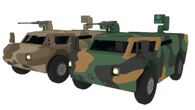 Мод Pixel's Fennek Light Recon Car для Unturned