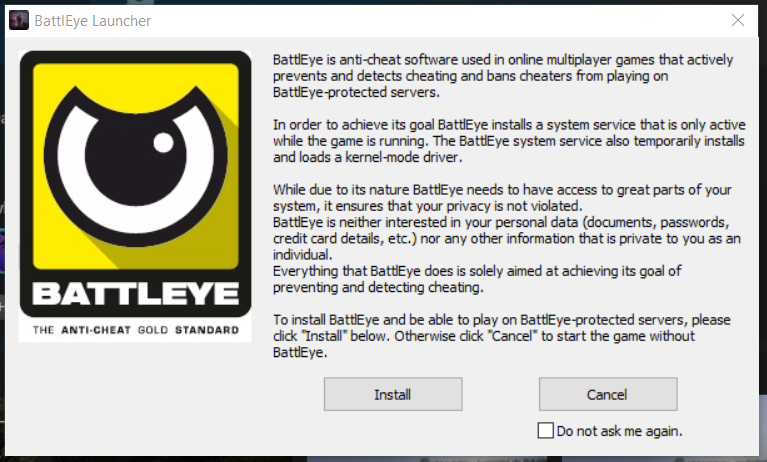 Battleye launcher Unturned